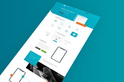 TheDigitalBank. Landing Page App