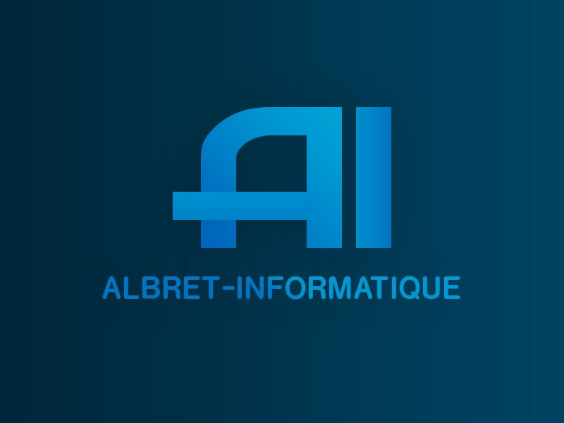 Albret-Informatique. Logo