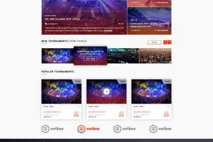 Gamokai. Games Tournaments Website