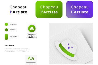 Chapeau l'Artiste. Logotype