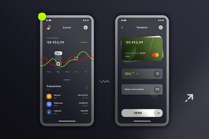 Transfert & Wallet Crypto. IOS App