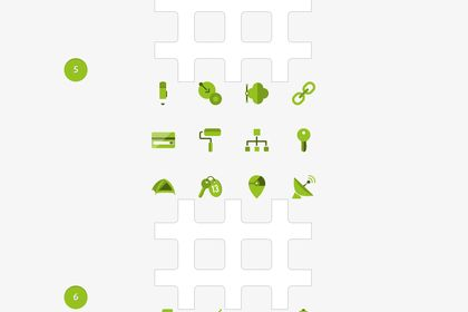 Flatrice. Green Flat Icons Set