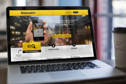 Landing Page. Annuaire