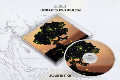 Illustration pour un album