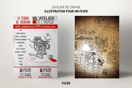 Illustration, mise en page d'un flyer