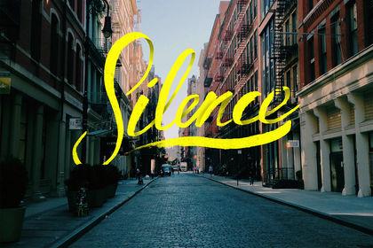 Lettering : silence