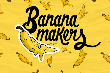 BANANA MAKERS (logo + lettering + identité)