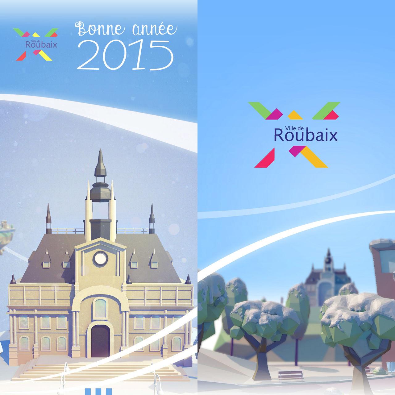 Carte de Voeux - Mairie de Roubaix 2015
