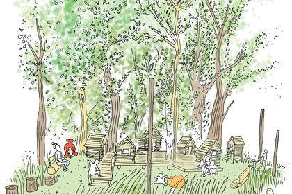 Illustration parc des Avettes, Bures-sur-Yvette