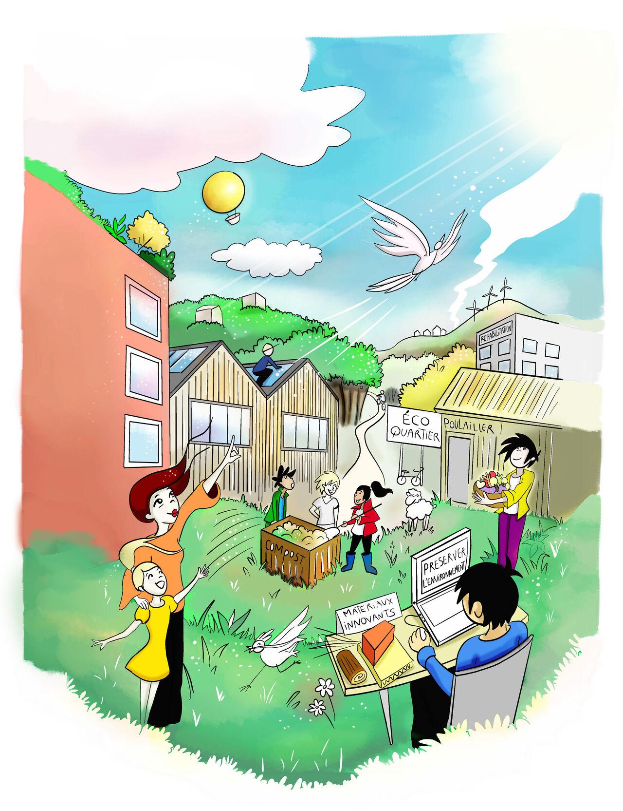 Illustration pour Siloge habitat