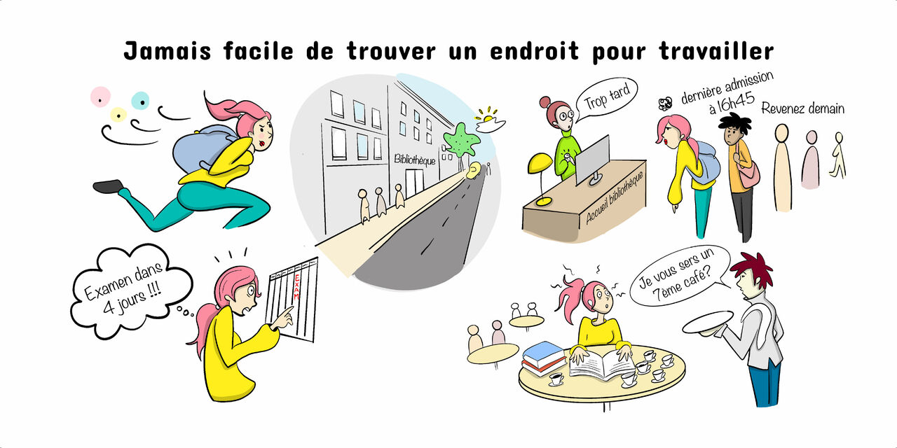Carnet illustré pour La Permanence