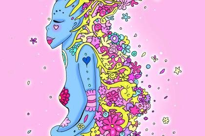 Illustration femme fertilité