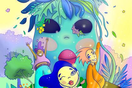 Jungle's blue head