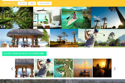 Homepage site web