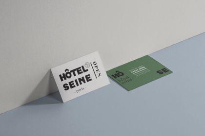 Branding & cartes de visite pour Hotel Seine