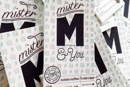 Cartes letterpress