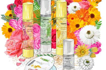 Flacons d'huiles bio cosmétiques