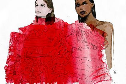 Kaia & Adut for Valentino