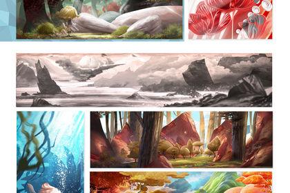 Portfolio illustration paysage