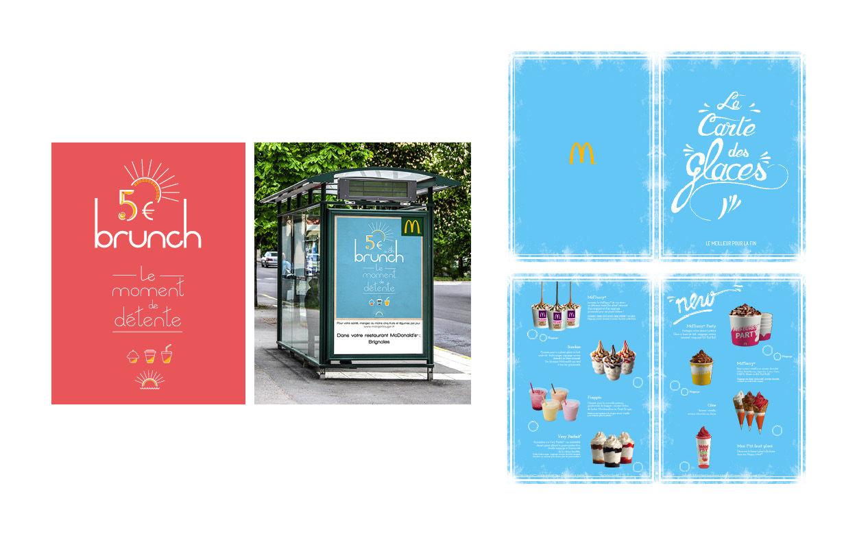 Affiche et carte glaces pour Mc Donalds Brignoles