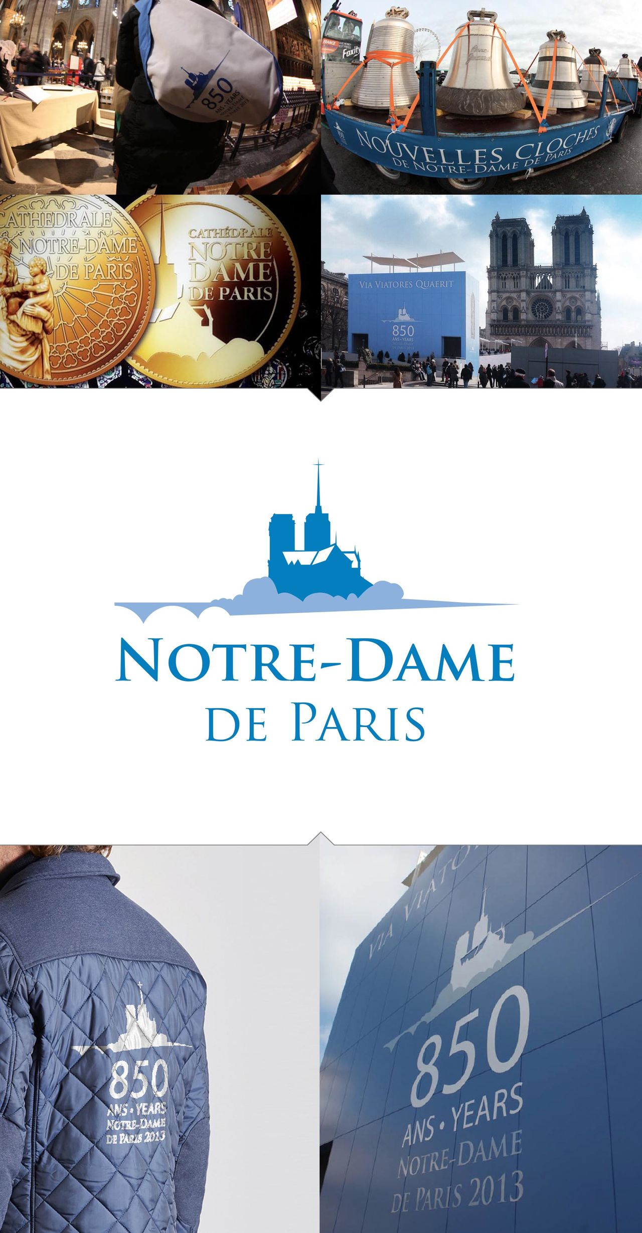 Logo et charte, Notre Dame de Paris