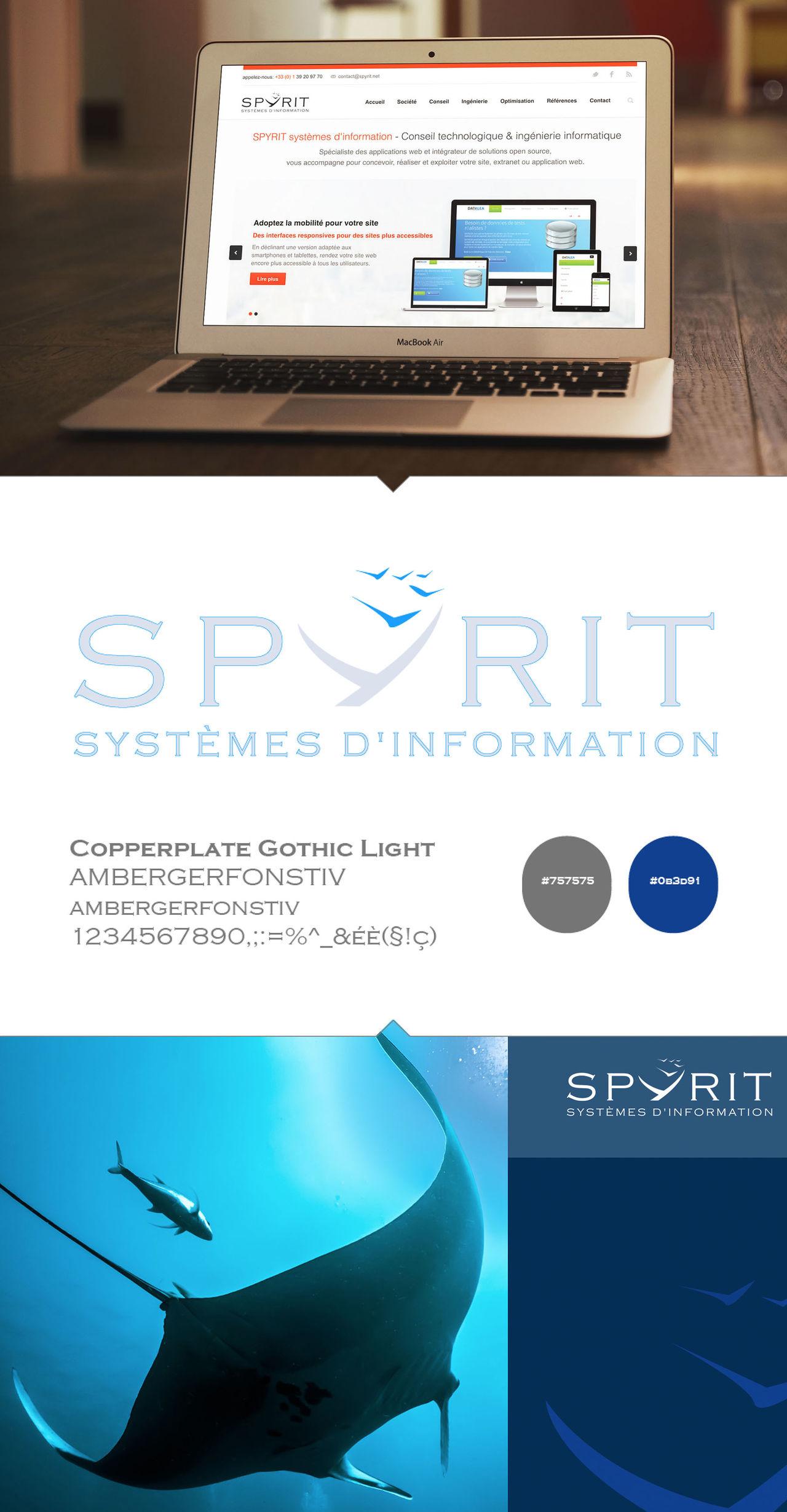 SPYRIT Systèmes d'informations - Logo et charte