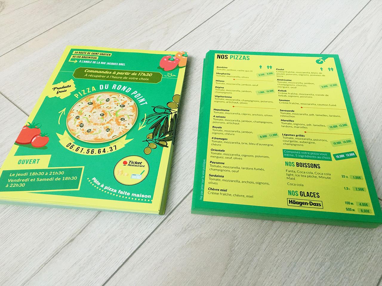 Flyer Pizza du rond-point