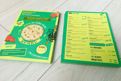Flyer Pizza du rond-point