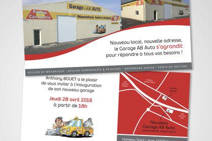 Invitation inauguration garage