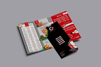 Carte de restaurant et signalétique • Pizzeria