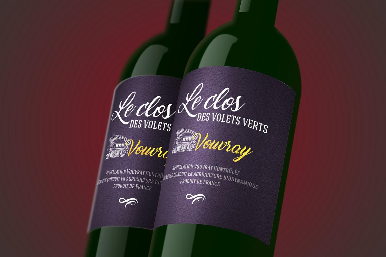 Label Wine • Le clos des volets verts