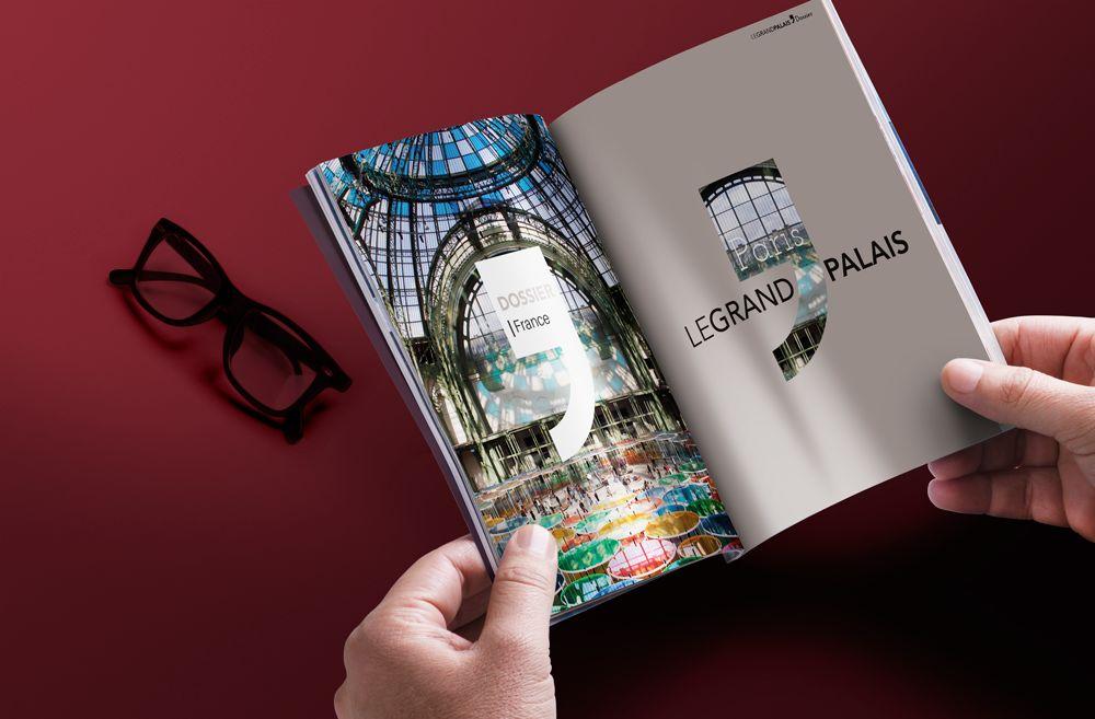 Couverture et maquette de magazine d'architecture