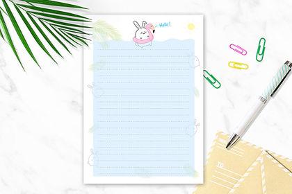 Création de papier à lettre