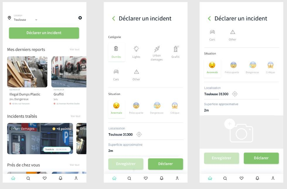 UX / UI Design application mobile
