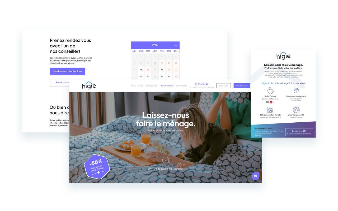 UX / UI design Higie