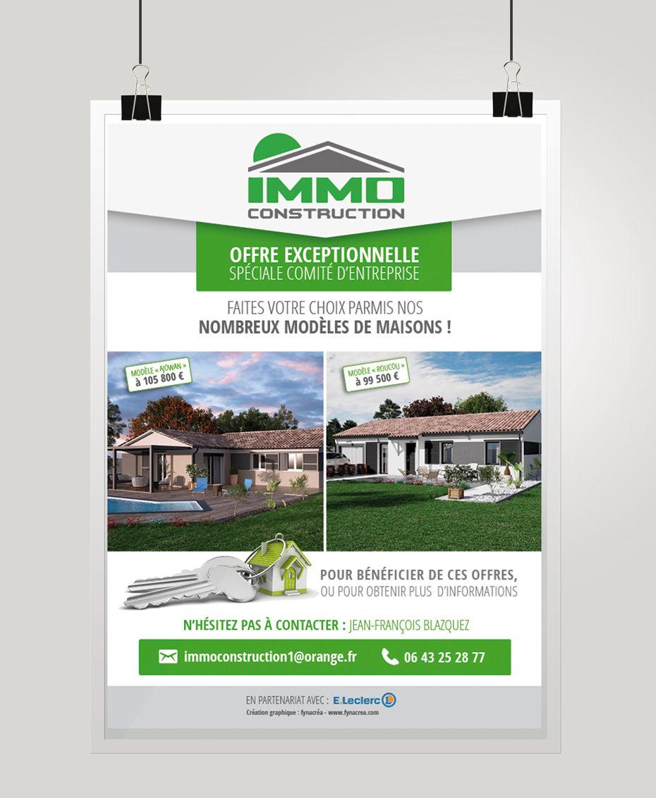 Création affiche (Immo Construction)
