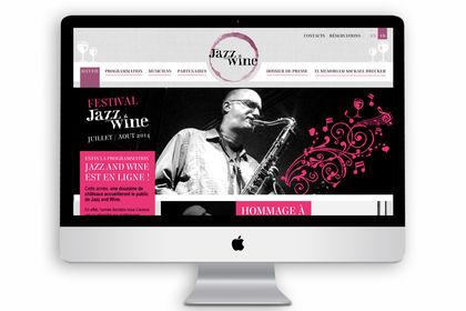 Créa. site internet / webdesign (Jazz&Wine fest.)