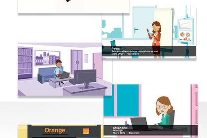 Animation 2D pour Orange RH