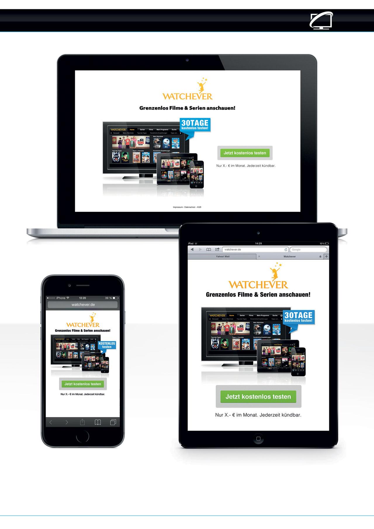 Webdesign pour Watchever