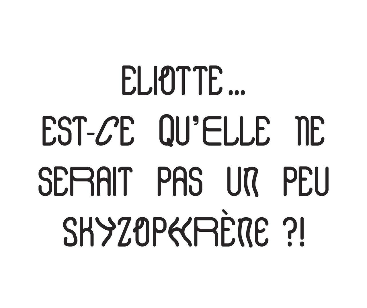 Eliotte typographie