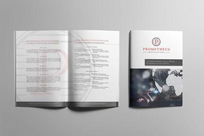 Brochure pour Prometheus Investigations