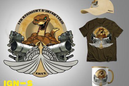 Création d'un emblème militaire
