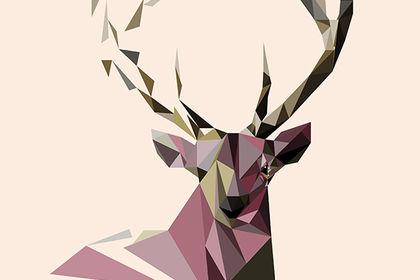 Illustration géométrique - Cerf