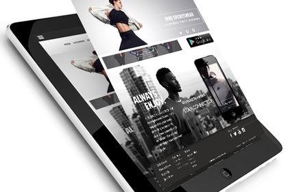 Site e-commerce sur tablette - Nike