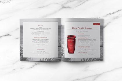 Brochure pour gamme de Kérastase