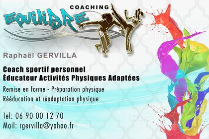 Carte visite coach sportif