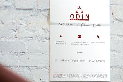 Panneau d'information Odin Immobilier