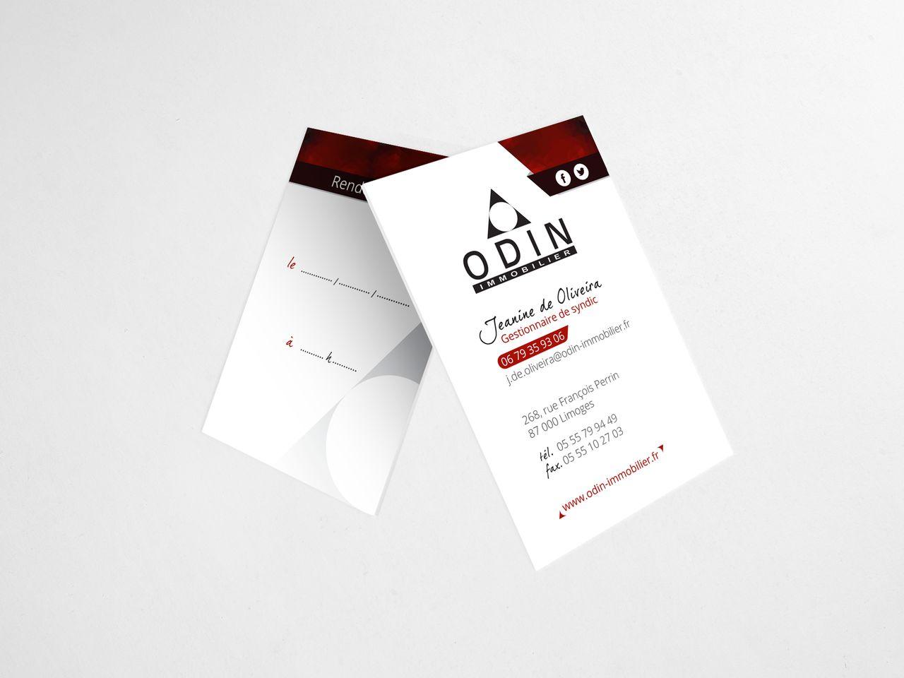 Carte de visite Odin Immobilier