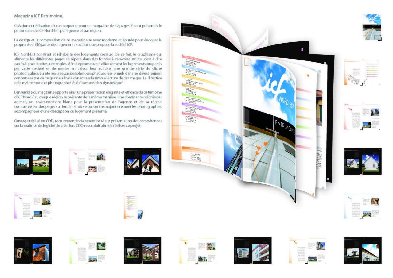 Conception d'un magazine pour ICF Nord-Est