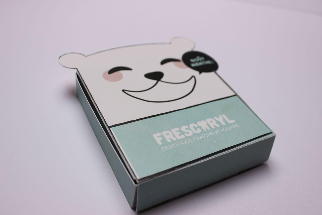 Frescoryl : dentifrice en pastille.